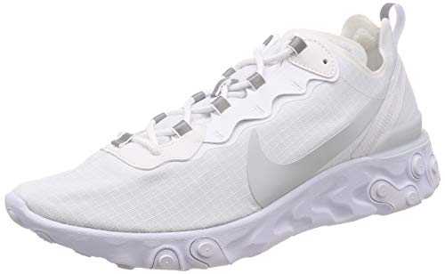 Nike React Element 55 SE SU19, Zapatillas de Atletismo para Hombre, Blanco (White/Pure Platinum 000), 45 EU