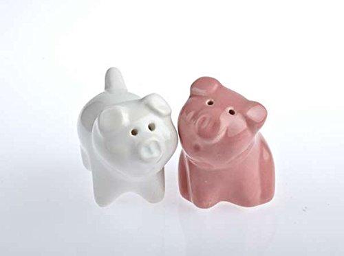 Salzstreuer im Schwein Design Hochzeitsdekoration Gastgeschenke, Tischdekoration, S+P Miss Peggi die ungewöhnlichsten Salzstreuer (Rosa Weiß)