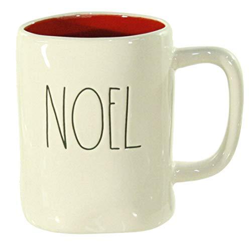 Rae Dunn Noel Christmas Mug with Red Interior Large Letter