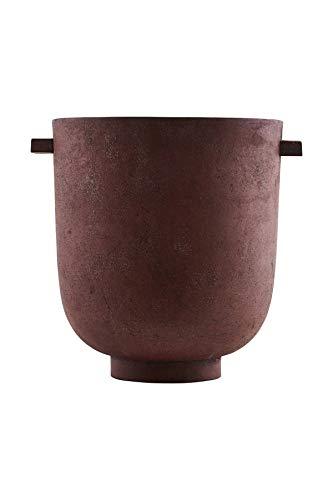 House Doctor Foem Pot de Fleurs Rouge 25 x 25 cm