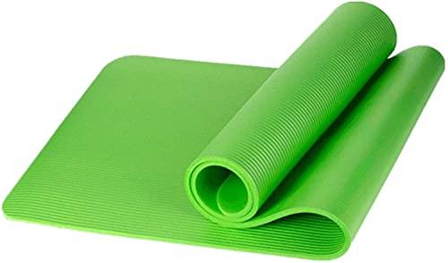 LSLS Esterilla de yoga para niños, antideslizante, suave, pequeña, de grosor, 10 mm (color: verde, tamaño: 150 x 61 x 1 cm)