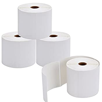 9527 Product 4x6 Direct Thermal Shipping Labels for Zebra 2844 ZP-450 ZP-500 ZP-505,Blank,450 Labels/Roll 1  Core,Total 4 Rolls