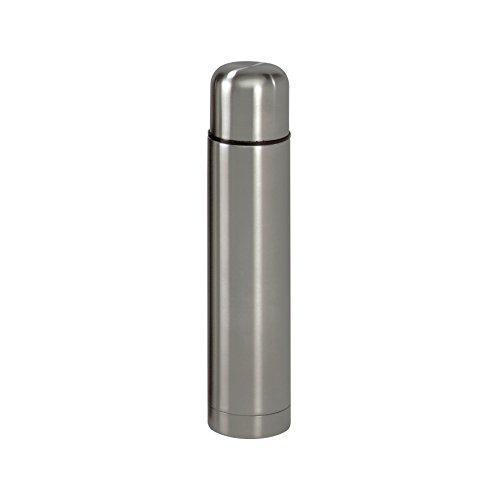 axentia Edelstahl-Isolierbehälter Isolierflasche für Warm-und Kaltgetränke, Silber, 6.5 cm