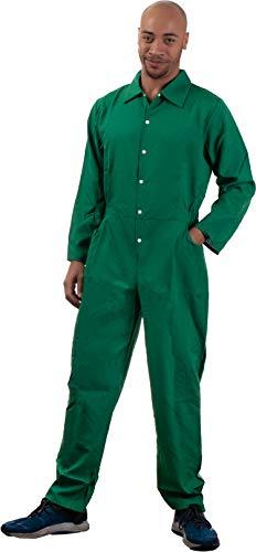 Green Jumpsuit | Costume Cosplay Flight Jump Suit Halloween Unisex Men Women -Green,XS