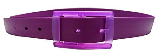 Evil Wear Ceinture pour homme et femme - Couleur : violet fluo - En silicone - Longueur réglable - Violet