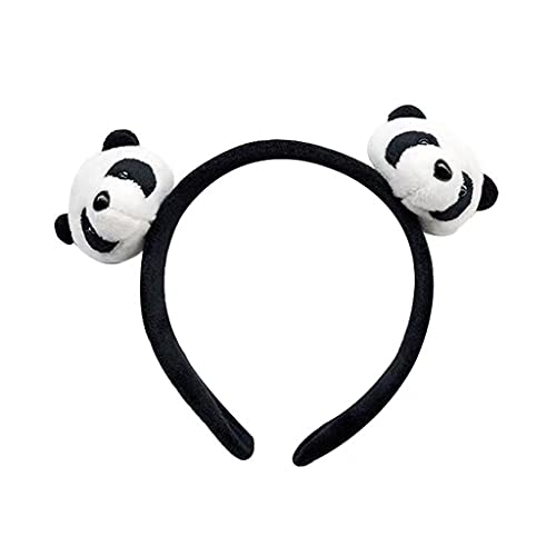 Y-POWER Encantador Panda Tocado Shaggy Mujeres Cabeza Accesorios De Dibujos Animados Diadema Broche De Ropa Puffy Accesorios Para Niños Adultos