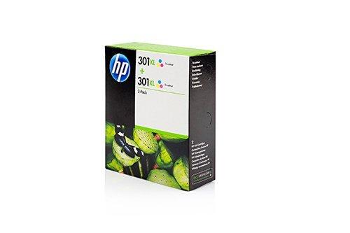 Original XL Tinte HP Nr 301 D8J46AE - 2x Premium Drucker-Patrone - Cyan, Magenta, Gelb - 2 x 330 Seiten - 2 x 8 ml