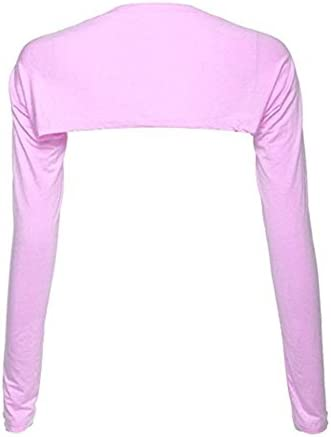 YEESAM Bolero Shrugs for Women Long Sleeve Arm Sleeves Hijab Accessories One Size Pink product image