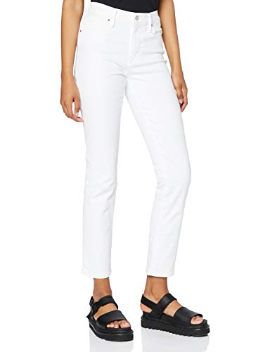 Levi's 724 High Rise Straight Jeans, Western White, 30W / 32L Donna