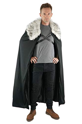 Encore Costumes Northern Winter Lord Cosplay Cloak, Grey, Large
