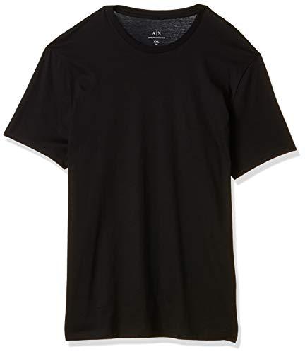 Armani Exchange Pima Small Logo Camiseta, Negro (Black 1200), XX-Large para Hombre