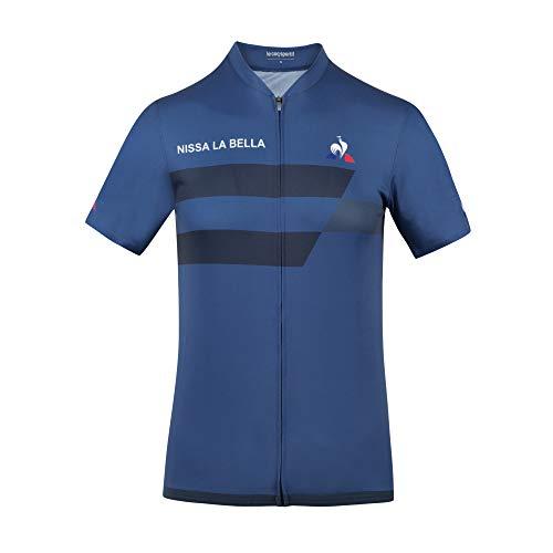 Le Coq Sportif Cycling Jersey SS Grand Départ M Parka, Hombre, True Navy, S