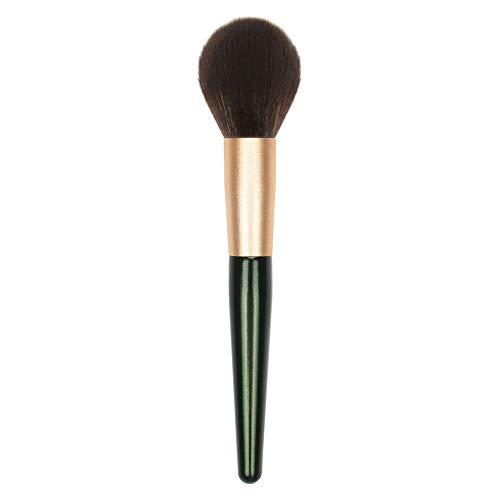 JessLab Pinceau Blush, Manche en Bois Pinceau Maquillage Professionnelle Face Brush Check Color Brush for Blush Bronzer, Synthetic Brins - 1 Pièce