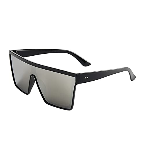 Gafas de sol planas para hombre y mujer, diseño cuadrado