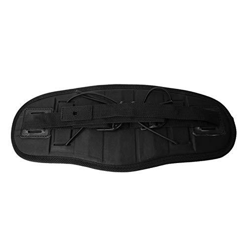 ZRNG Ajustable portátil Duradero Kayak Antideslizante Canoa Asiento Respaldo cómodo Almohadilla Negro para Botes de Remo Accesorio