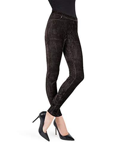 Royal Ease Wide-Rib Corduroy Legging Mq-010 Black Small / Medium