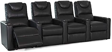 Octane Excel XS800 Black Bonded Home Theater Seating (Set of 4)