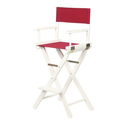 WY-Bar Stool Klappstuhl Tragbarer Holzsegeltuchstuhl, 30-Zoll-Sessel für einfache Barhochstühle Klappstuhl für Esszimmerstühle, Platz für 220 Pfund - 15 Stile Optional