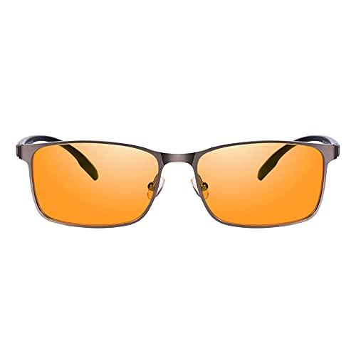 PRiSMA LiMBURG PRO99 Blaulichtfilterbrille, Brille mit Blaulichtfilter filtert bis zu 99% Blaulicht - Bildschirmbrille LB709