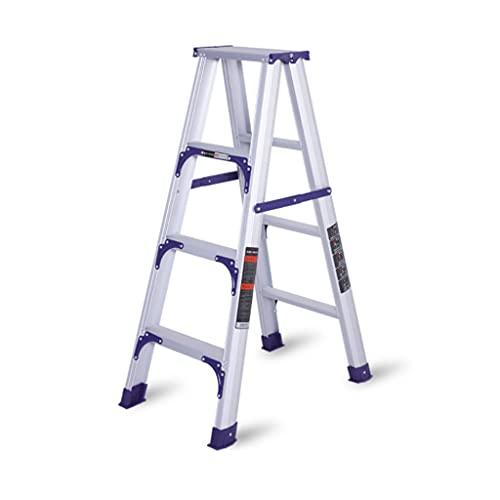 YHYH Scaletta Pieghevole A Doppio Lato Scaletta 3 4 5 Step Scaletta Scaletta in Lega di Alluminio Stepladders Rinforza Le Scale (Color : 4 Step Ladder)