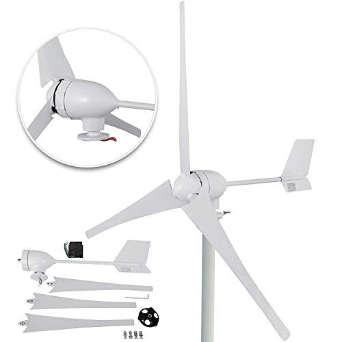 Happybuy Wind Turbine Generator 700W DC 24V Wind Turbine 3 Blade with Controller for Marine RV Homes Industrial Energy
