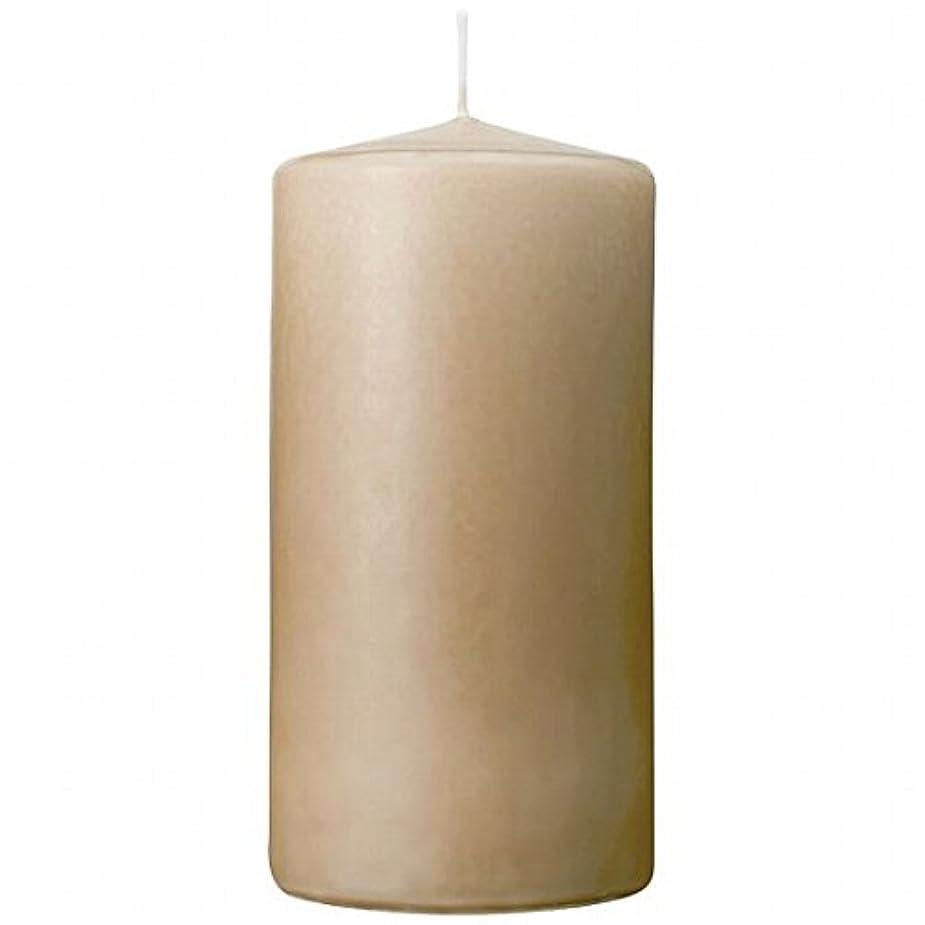 トランペット百年入手しますカメヤマキャンドル(kameyama candle) 3×6ベルトップピラーキャンドル 「 ベージュ 」