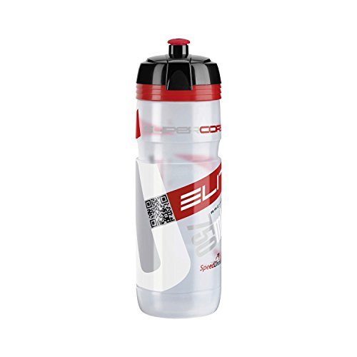 Elite Trinkflasche Supercorsa Clear, Transparent-Rot, 750 ml