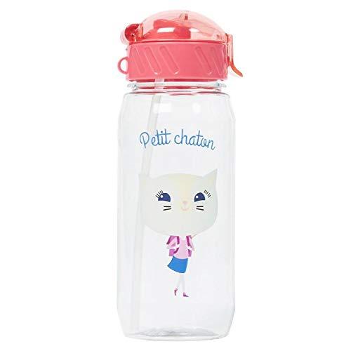 Draeger – Botella para niños con pajita – Botella reutilizable – Botella para niños – Sin BPA – apta para lavavajillas