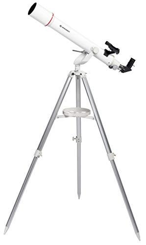 Bresser Refraktor Teleskop NANO AR-70/700 AZ mit Aluminium 3-Bein-Stativ, Azimutaler Montierung, LED-Leuchtpunktsucher und Smartphone Kamera Adapter für Einsteiger