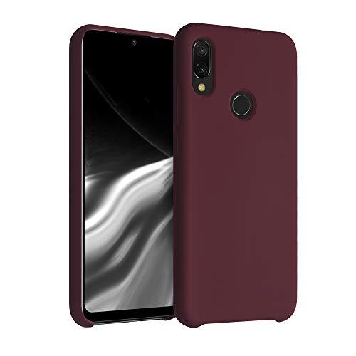 kwmobile Carcasa Compatible con Xiaomi Redmi Note 7 / Note 7 Pro - Funda de Silicona para móvil - Cover Trasero en Rojo Vino