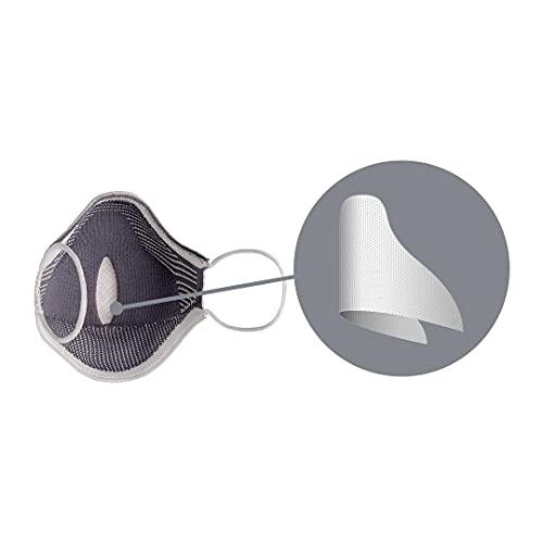 Máscara Fiber Knit AIR + Filtro de Proteção + Suporte (Preta, M)