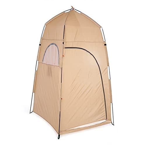 RHNE Multifuncional y Conveniente Ducha al Aire Libre Vestuario Carpa de Tela de poliéster Playa Carpa Duradera Camping Playa Caqui 120 * 120 * 210cm