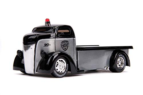 Jada Toys 1947 Ford COE Flatbed Tow Truck Raw Metal and...