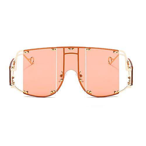 ShSnnwrl Único Gafas de Sol Sunglasses Gafas De Sol Cuadradas De Moda para Mujer, Nuevas Gafas De Gran Tamaño con Espejo para Hom