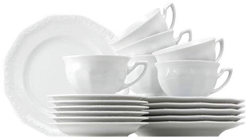 Rosenthal 10430-800001-18735 Maria Kaffeeset 18-teilig, weiß