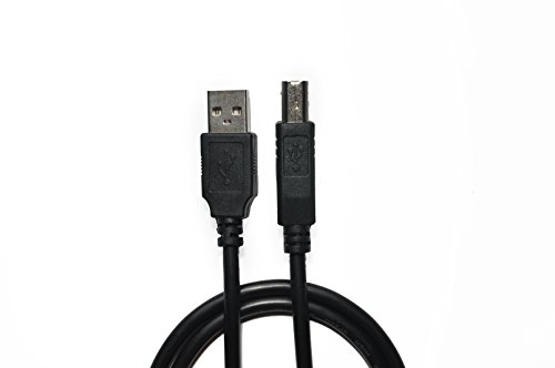 NaturaWell 6 ft Black USB 2.0 Printer Cable for Canon Printers, Scanner Cable Type A Male to Type B Male Printer Cable Gold Plated For Canon,Epson,HP,Dell,Lexmark (6 ft - Black)