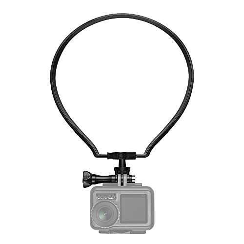 【Taisioner】アクションカメラ用首掛け ロック式 第二世代 GoPro用アクセサリー スマホホルダー付き POV撮影必要 ブラック