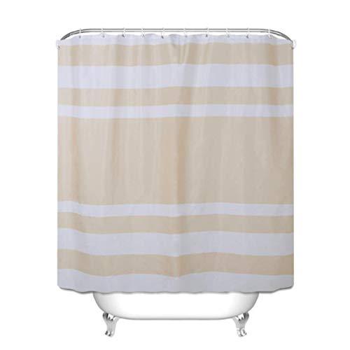 LWANFEI Streifen Duschvorhang, Duschen Badewannen Vorhänge Badezimmer Dekoration Zubehör,2