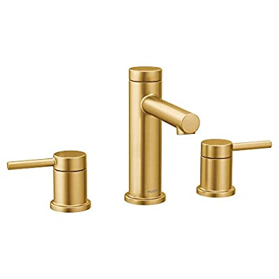 Moen T6193BG Align Two-Handle Modern 8-Inch Widespread Bathroom Faucet Trim Kit, Valve Required, Brushed Gold