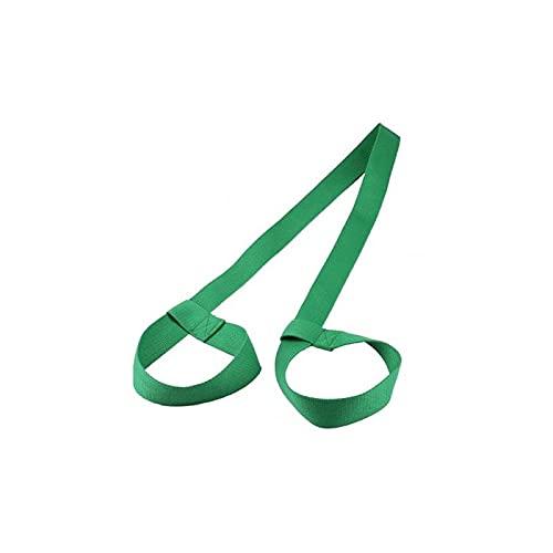 CZFSKCZ Correa de Yoga, Algodón Ajustable Duradero Yoga Estera Correa Deporte Estiramiento Correa Gimnasio Cintura Pierna Aptitud llevando eslingas Hombro llevarse Correas (Color : Green)