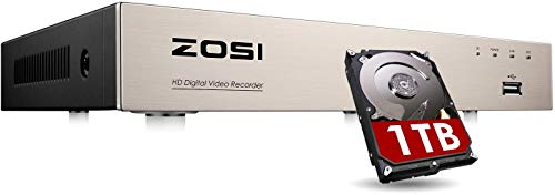 ZOSI CCTV 8CH 1080P H.265+ 4-in-...