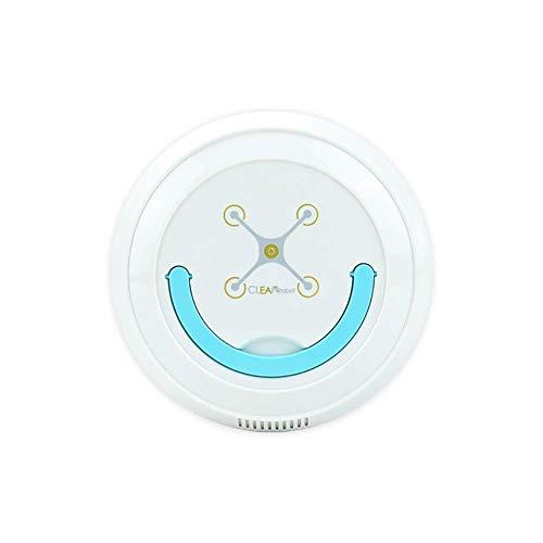SCLL Aspiradora robótica USB Práctico, Ultrafino, Fuerte SOG, silencioso, para aspirar en Interiores, Blanco
