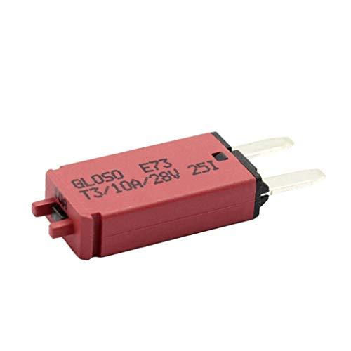 Homyl Disjoncteur Lame Fusible Réinitialisable de Voiture 12V-24V - 10A