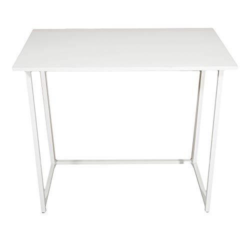 Marooma Escritorio pequeño plegable para ordenador, 31.5 ahorro de espacio para el hogar, oficina, escritorio plegable para estudiante, mesas de estudio para espacios pequeños, color blanco