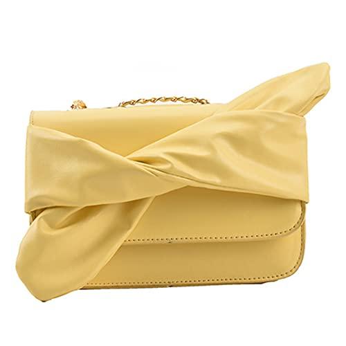 Bolso de mano de piel sintética de poliuretano, bolso de hombro para mujer, bolso retro con cadena de perlas, bolso de hombro para mujer, bolso pequeño de piel con lazo, para verano una fiesta.