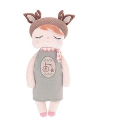 Boneca metoo angela doceira retro deer marrom 33cm, Metoo, Rosa Claro, 35 Cm