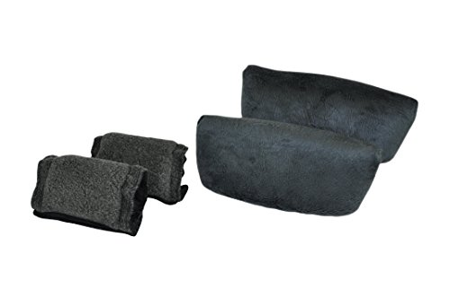 Blue Jay An Elite Healthcare Brand Ultra Comfort Crutch Pillows Include 2 Underarm Pillow and 2 Hand Pillow   Comfortable Hand Grip Padding for Walking Crutches with Cover   Gray