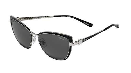 Chopard Damen SCHC16S57583P Sonnenbrille, Black Silver 583p, 57/15/140
