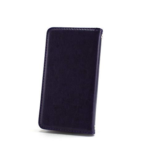 ホワイトナッツ iPhone7 ケース 手帳型 【左利き】 ベルトなし スタイリッシュ パープル スマホケース アイフォンセブン 手帳 カバー スマホカバー WN-OD495935_ML