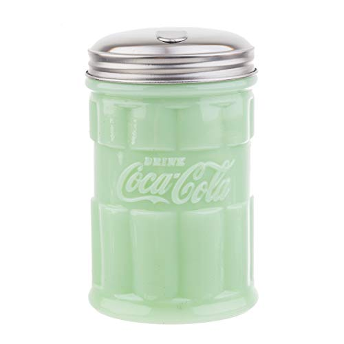 Tablecraft Coca-Cola Jadeite Sugar Pourer 3.25 x 3.25 x 5   Green